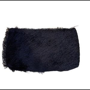 Lancôme black fringed clutch